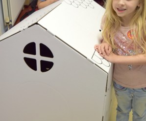 Colour in Cardboard House + giveaway