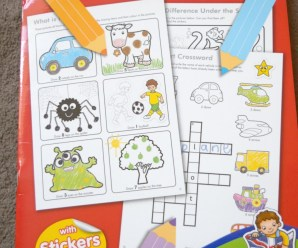 Things To Do Sticker Activity Book Review + giveaway
