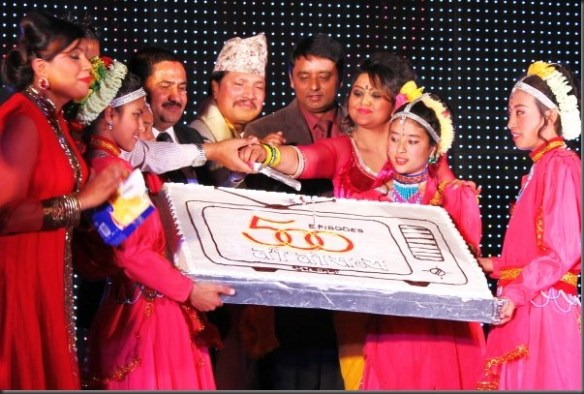 tito satya celebrated 500 episode - 10 years cake cutting