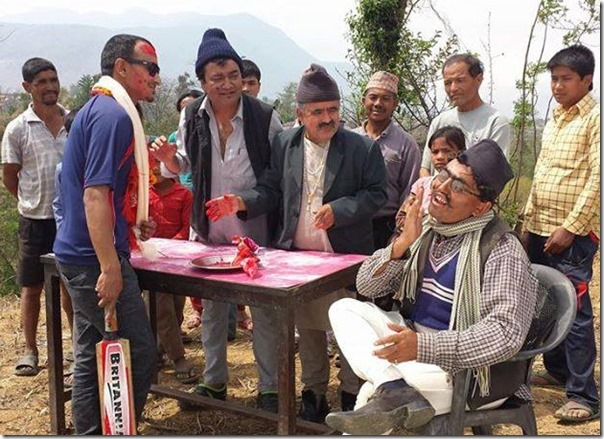Khadka ji honors Paras Khadka in Meri Bassai
