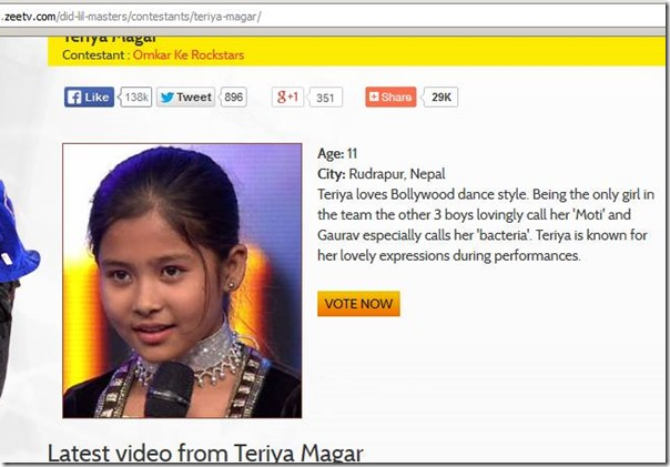 Teriya Magar, vote for Teriya