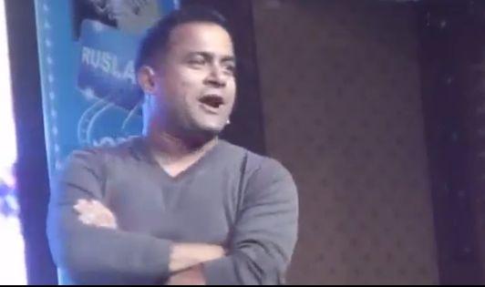 Comedian Jitu Nepal porformance in Kathmandu