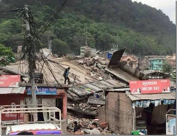 Earthquake in Nepal, massive damages to property and people