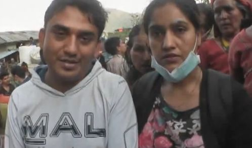 Dhurmus and Suntali distribute relief material to earthquake victims