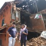 The house of Meri Bassai fell down, Dhurmus ans Suntali access the damage