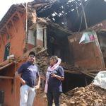The house of Meri Bassai fell down, Dhurmus ans Suntali access the damage