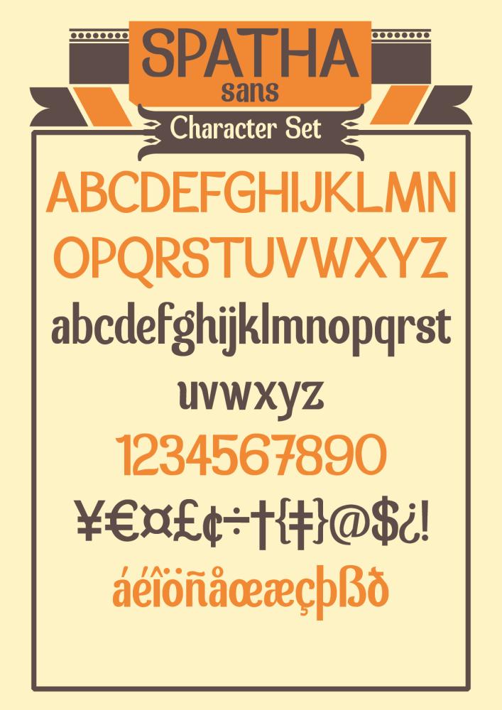 Tipografía gratis: Spatha Sans (2/2)