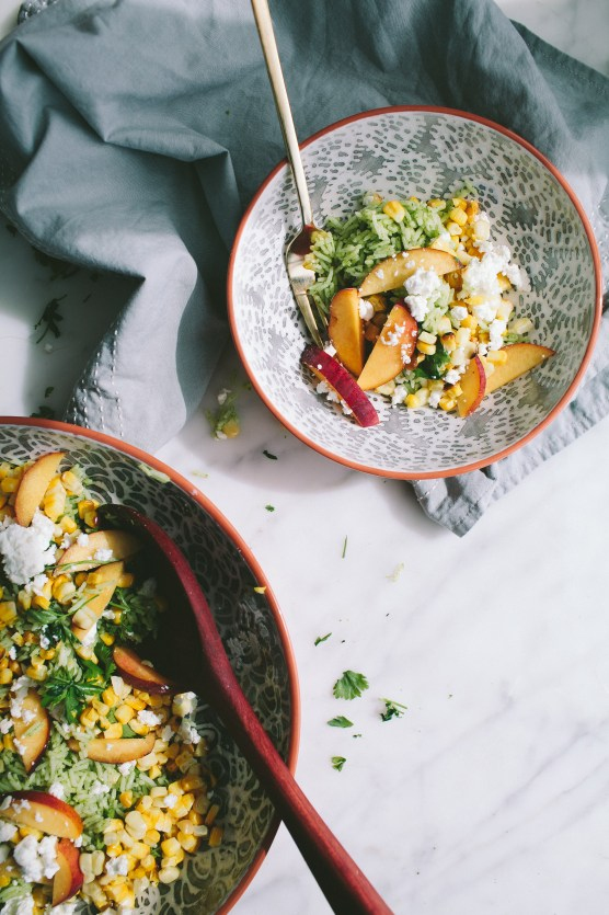 Green Rice Salad with Nectarines from Not Without Salt
