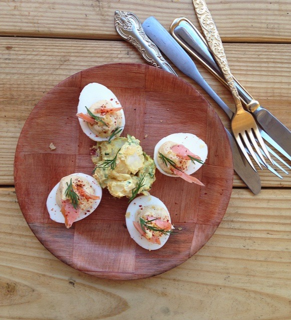Deviled Eggs with Trout at Le Pantry | Summer Eats | Serious Crust by Annie Fassler