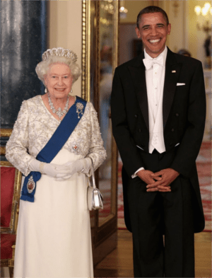 The 86-year-old monarch is openly declaring her opposition to discrimination because her printer stopped working and she couldn't make any more copies of this picture of her with her black best friend.