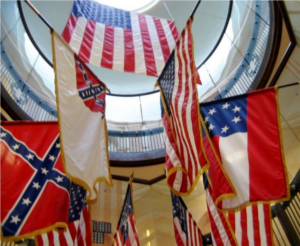 "In the VA's defense, they did fly two out of three actual Confederate national flags, and according to that old white spiritual, ""two out of three ain't bad."""