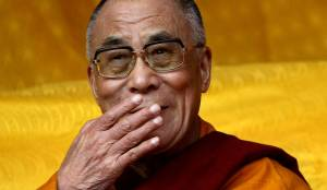 The Dalai Lama is already practicing coquetry for his newer, hotter life.