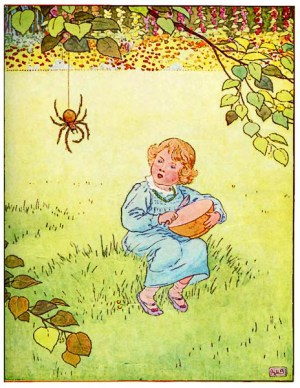 If only there was a little Dutch courage in Little Miss Muffet's curds and whey. Then she'd have shown that spider a thing or two for manspreadin.