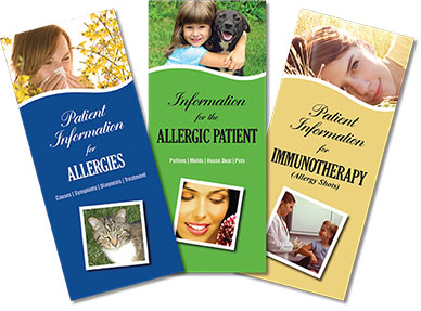 Serolab informational phamplets: Patient Information for Allergies, Information for the Allergic Patient, and Patient Information for Immunotheraphy (allergy shots).