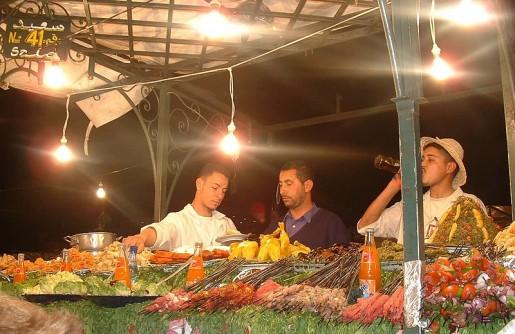 Puesto callejero de comidas