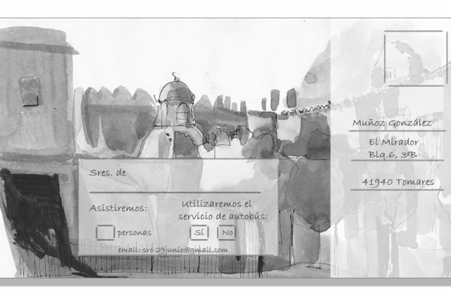 Postal de confirmación de asistencia Iglesia de San Andrés