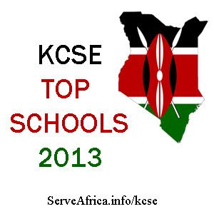 KCSE Exam Results 2013 - Top 100 County Schools in Kenya
