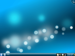 Slackware 13 - the KDE desktop as installed