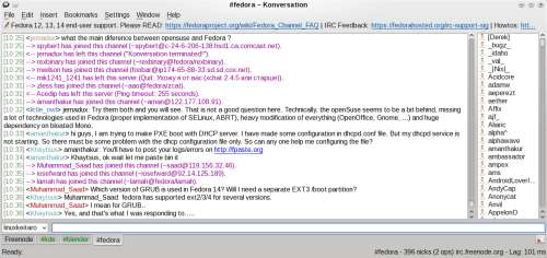Konversation in KDE 4.5