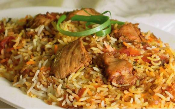 Singapore chicken biryani