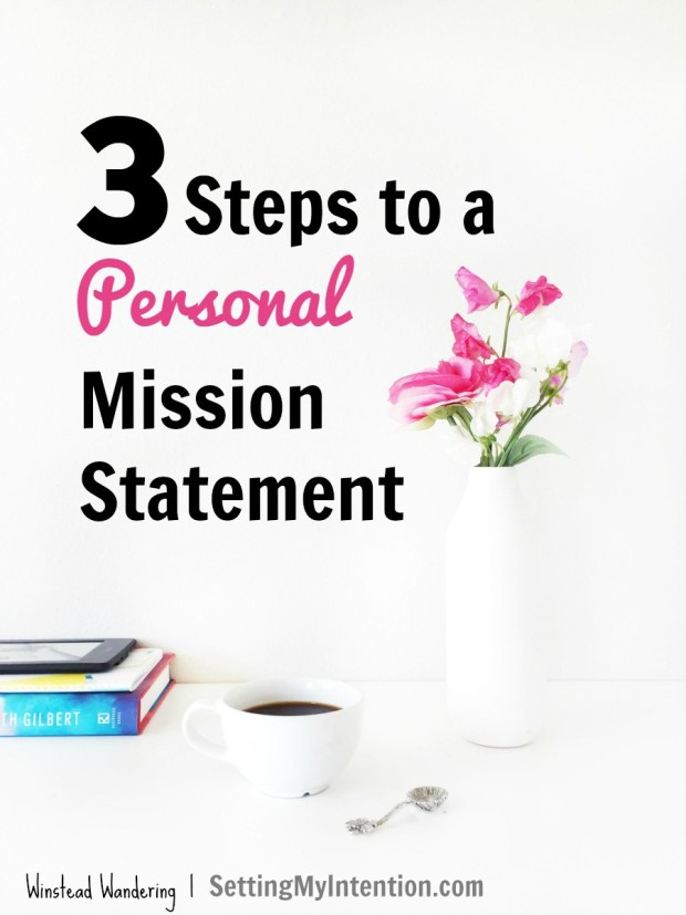 personal mission statement in 3 steps