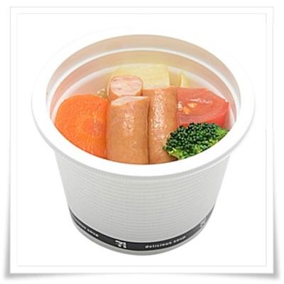 セブンイレブンのお惣菜まとめ!肉商品のおすすめ人気惣菜BEST7!ごろごろ野菜とソーセージのポトフ
