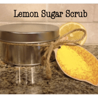 Lemon Sugar Scrub Recipe {homemade gift idea}