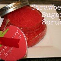 Strawberry Sugar Scrub Recipe {homemade gift idea}