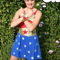 NO-Sew Wonder Woman Costume {DIY}