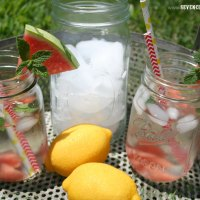 Watermelon and Mint Infused Water {Recipe}