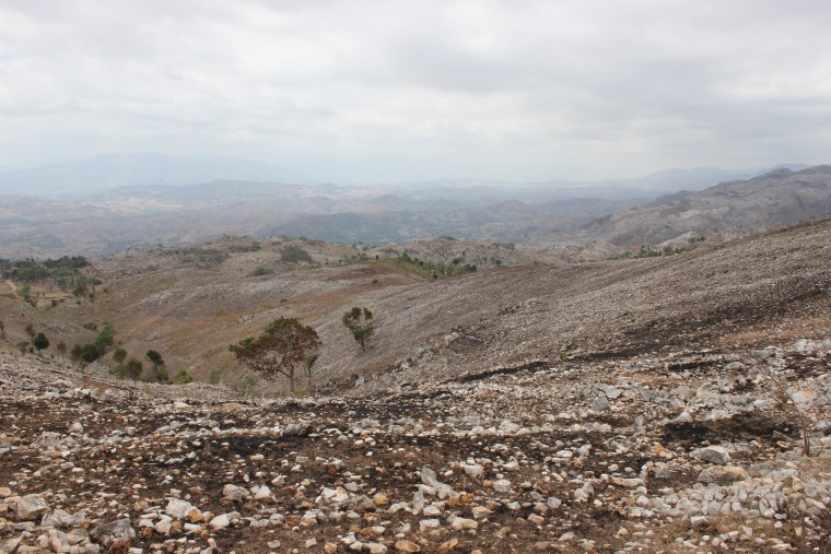 This valley had recently been burned when in March in preparation for planting. Although burning quickly returns a portions of the nutrients in vegetation back in the soil, many precious organics are vaporized and lost in the process, making this an overall degrading and unsustainable agricultural practice.