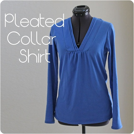 pleatedcollarshirt