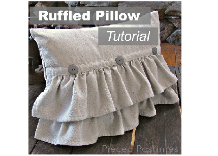 Ruffled Pillow Tutorial Banner