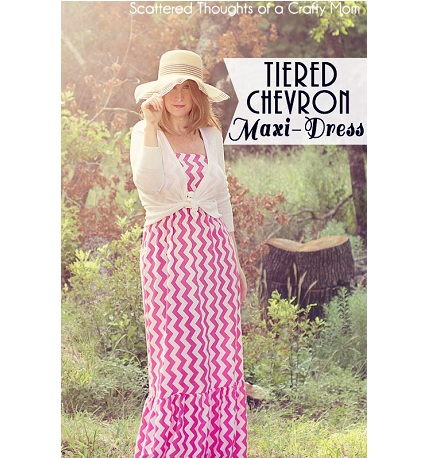 tieredchevronmaxidress