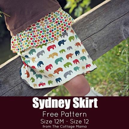 SydneySkirtFreePatternTheCottageMama