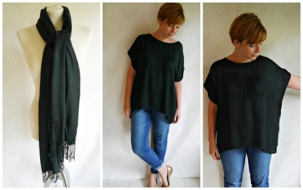 black pashmina refashion