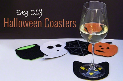 Tutorial: No-sew felt Halloween coasters
