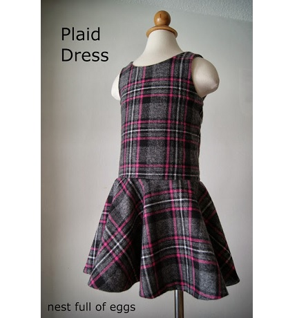 Free pattern: Little girl's drop waist dress