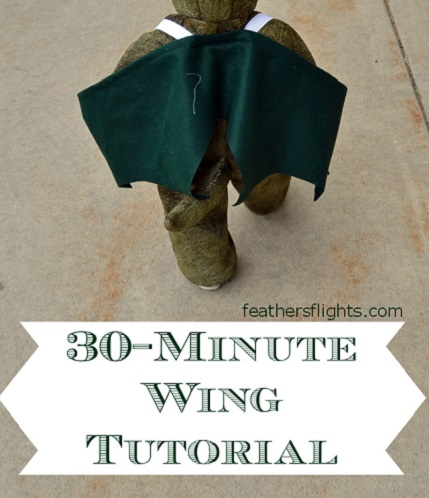 Tutorial: 30-minute Halloween costume wings
