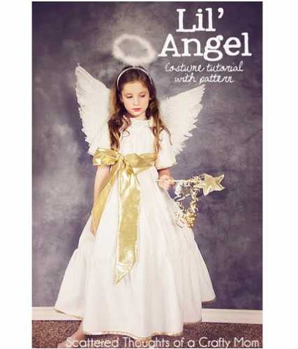 Free pattern: Angel dress for a costume