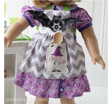 "Tutorial: Halloween apron for an 18"" doll"