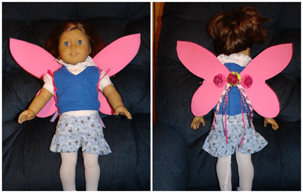 "Tutorial: Fairy wings for an 18"" doll"
