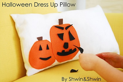 Tutorial: Interactive jack o'lantern pillow for Halloween