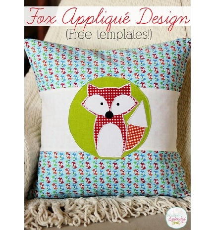 Free template: Fox applique