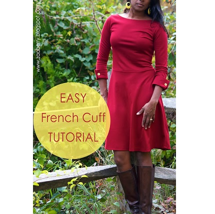 Tutorial: French cuff and boatneck Lady Skater variation