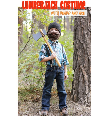 Tutorial: Lumberjack suspenders and fleece beard