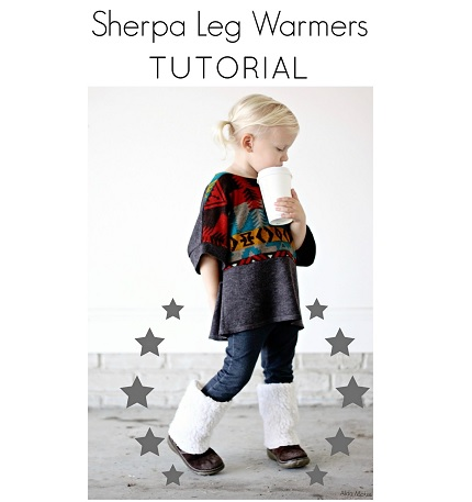 Tutorial: Little girl sherpa legwarmers