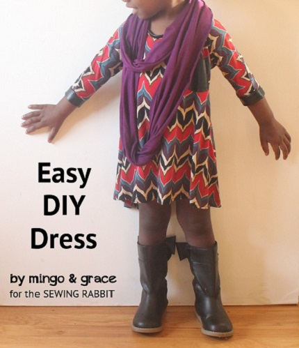 Tutorial: Easy swing dress with 3/4 sleeves
