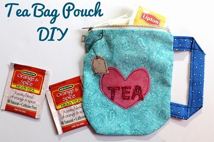 Tutorial: Tea bag pouch shaped like a tea cup