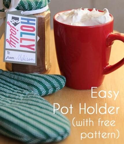 Free pattern: Easy oven mitt potholder